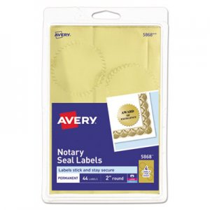 xerox label templates - avery printable gold foil seals 2 dia 44 pack ave05868