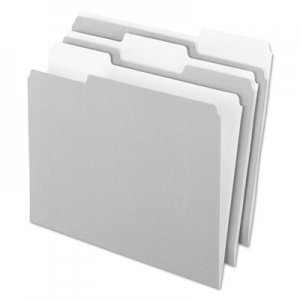 Pendaflex Interior File Folders, 1/3 Cut Top Tab, Letter, Gray, 100/Box PFX421013GRA 421013GRA