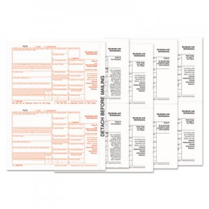 TOPS 1099-Div Tax Forms, 5-Part, 5 1/2 X 8, Inkjet/laser, 48 1099s & 1 1096 TOP22973 22973