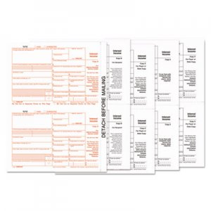 TOPS 1099-INT Tax Forms, 5-Part, 5 1/2 x 8, Inkjet/Laser, 24/Pack TOP22983 22983