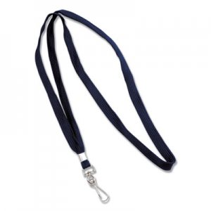 "Advantus Deluxe Lanyards, J-Hook Style, 36"" Long, Blue, 24/Box AVT75426 75426"