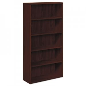 HON 10500 Series Laminate Bookcase, Five-Shelf, 36w x 13-1/8d x 71h, Mahogany HON105535NN H105535.NN