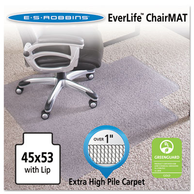 "ES Robbins 45x53 Lip Chair Mat, Performance Series AnchorBar for Carpet over 1"" ESR124173 124173"
