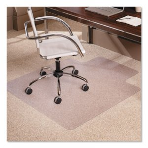 "ES Robbins 45x53 Lip Chair Mat, Multi-Task Series AnchorBar for Carpet up to 3/8"" ESR128173 128173"