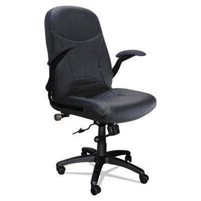 Mayline Big & Tall Series Executive Pivot-Arm Chair, Black Leather MLN6446AGBLT 6446AGBLT