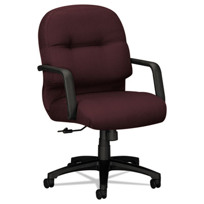HON 2090 Pillow-Soft Series Managerial Mid-Back Swivel/Tilt Chair, Wine Fabric/Black HON2092NT69T 2092NT69T