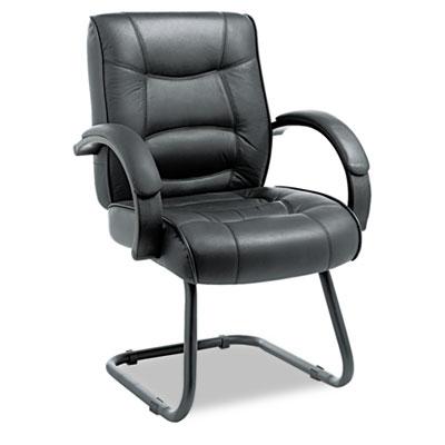 Strada Series Guest Chair Black Top Grain Leather