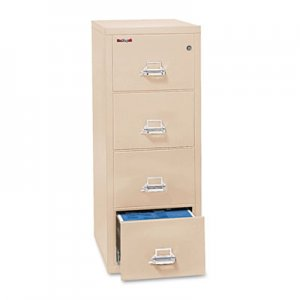 FireKing Four-Drawer Vertical Legal File, 20-13/16 x 31-9/16, UL 350 for Fire, Parchment FIR42131CPA 42131CPA