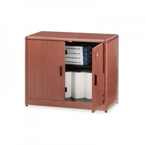 HON 10700 Series Locking Storage Cabinet, 36w x 20d x 29 1/2h, Bourbon Cherry HON107291HH H107291.HH