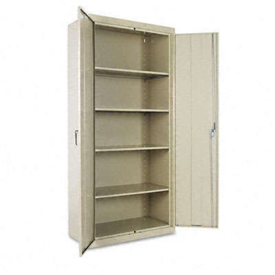 Assembled Welded Storage Cabinet, 36w x 18d x 78h, Putty Alera ...