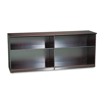 Mayline Veneer Low Wall Cabinet without Doors, 72w x 19d x 29-1/2h, Mahogany MLNVLCCMAH MLNVLCCMAH VLCCMAH