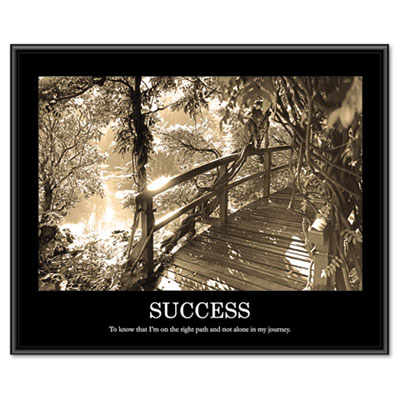 "Advantus ""Success"" Framed Sepia Tone Motivational Print, 30 x 24 AVT78161 AVT-78161"