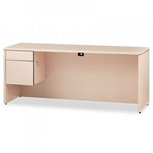 HON 10500 Series 3/4-Height Left Pedestal Credenza, 72 x 24 x 29-1/2, Natural Maple HON10546LDD H10546L
