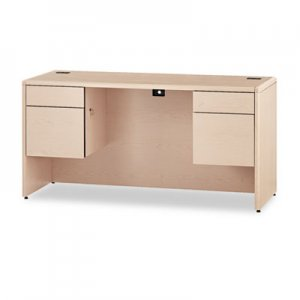 HON 10700 Kneespace Credenza, 3/4 Height Pedestals, 60 x 24 x 29 1/2, Natural Maple HON10765DD H10765.DD