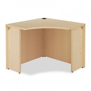 HON 10500 Series Curved Corner Workstation, 18w x 36d x 36d x 29-1/2h, Natural Maple HON105810DD H105810.DD