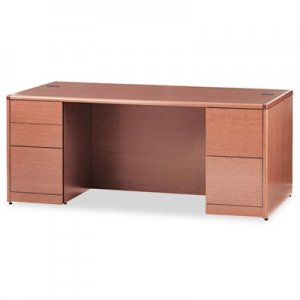 HON 10700 Double Pedestal Desk With Full Height Pedestals, 72w x 36d, Bourbon Cherry HON10799HH H10799.HH