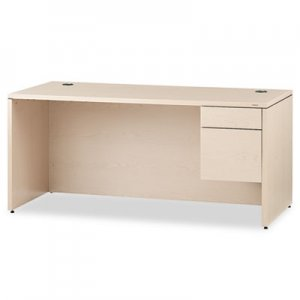 "HON 10500 Series ""L"" Right 3/4-Height Ped Desk, 66w x 30d x 29-1/2h, Natural Maple HON10583RDD"