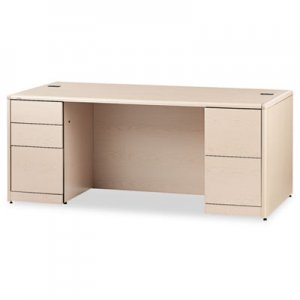 HON 10700 Double Pedestal Desk With Full Height Pedestals, 72w x 36d, Natural Maple HON10799DD H10799.DD