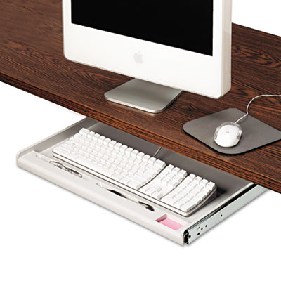 "Innovera Standard Underdesk Keyboard Drawer, 21 3/8""w x 12 7/8""d, Light Gray IVR53000"