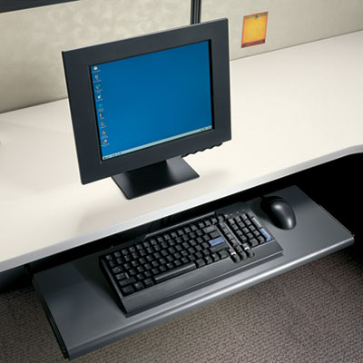 HON Slide-Away Laminate Keyboard Platform, 21-1/2w x 10d x 1-1/8h, Black HON4022P H4022.P