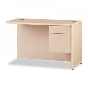 "HON 10700 ""L"" Workstation Return, Right 3/4 Height Pedestal, 48 x 24, Natural Maple HON10715RDD H10715R.DD"