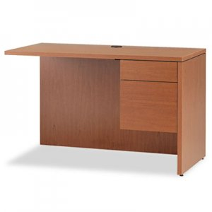 HON 10500 Series L Workstation Return, 3/4 Height Right Ped, 48 x 24, Bourbon Cherry HON10515RHH H10515R.HH