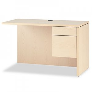 HON 10500 Series L Workstation Return, 3/4 Height Right Ped, 48 x 24, Natural Maple HON10515RDD H10515R.DD