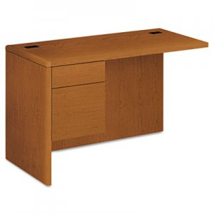 "HON 10700 ""L"" Workstation Return, 3/4 Height Left Pedestal, 48 x 24, Bourbon Cherry HON10716LHH H10716L.HH"
