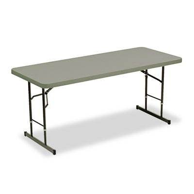 Iceberg Adjustable Height Tables, 72w x 30d x 25-35h, Charcoal ICE65627 65627