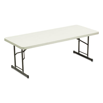 Iceberg Adjustable Height Tables, 72w x 30d x 25-35h, Platinum ICE65623 65623