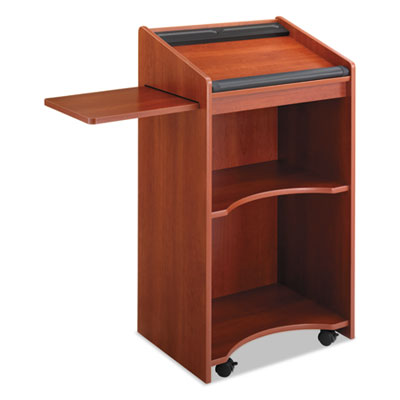 Safco Executive Mobile Lectern, 25-1/4w x 19-3/4d x 46h, Cherry SAF8918CY 8918CY