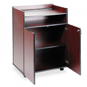 Safco Executive Mobile Presentation Stand, 29-1/2w x 20-1/2d x 40-3/4h, Mahogany SAF8919MH 8919MH