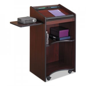 Safco Executive Mobile Lectern, 25-1/4w x 19-3/4d x 46h, Mahogany SAF8918MH 8918MH