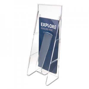 deflecto Stand Tall Literature Holder, 4 9/16w x 3 1/4d x 11 7/8h, Clear DEF55601 55601