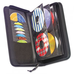 Case Logic CD/DVD Wallet, Holds 72 Disks, Black CDW-64 CLGCDW64 CDW64