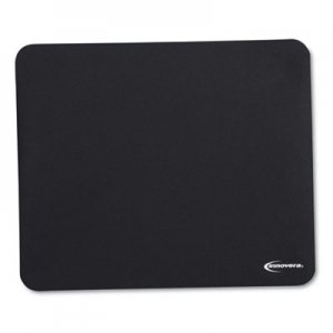 Innovera Natural Rubber Mouse Pad, Black IVR52448