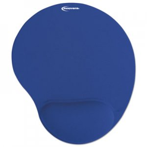 Innovera Mouse Pad w/Gel Wrist Pad, Nonskid Base, 10-3/8 x 8-7/8, Blue IVR50447