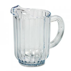 Rubbermaid Commercial Bouncer Plastic Pitcher, 60oz, Clear RCP333800CR FG333800CLR