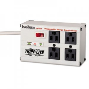 Tripp Lite Isobar Surge Suppressor, Metal, 4 Outlet, 6ft Cord, 3330 Joules ISOBAR4 TRPISOBAR4
