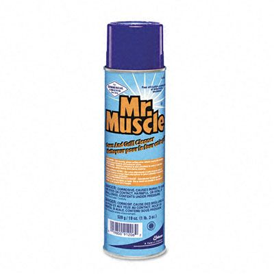 Mr. Muscle Oven And Grill Cleaner, 19oz Aerosol Can, 6/carton 91206CT DRA91206CT