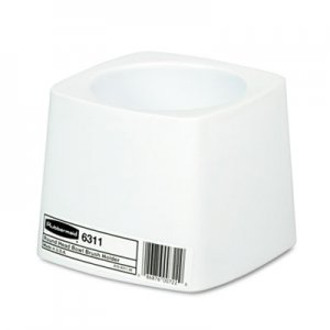 Rubbermaid Commercial Holder for Toilet Bowl Brush, White Plastic RCP631100WE FG631100WHT