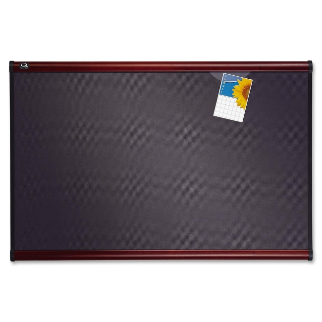 ACCO Prestige Plus Heirloom Gray Diamond Mesh Bulletin Board B447M QRTB447M