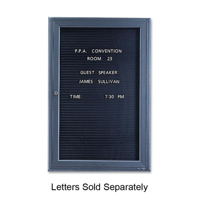 ACCO Single Glass Magnetic Message Board 2963LM QRT2963LM