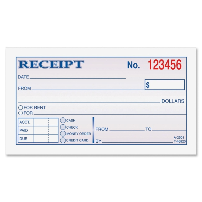 Receipt Book Template Peellandfmtk - Receipt book template