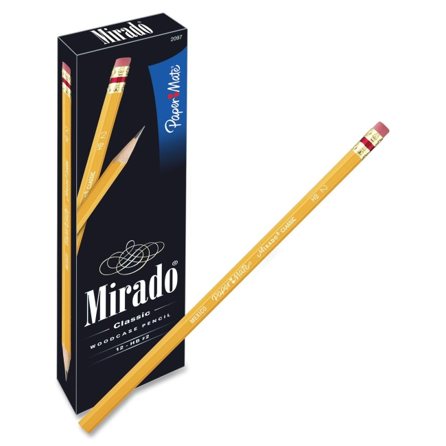 Paper Mate Mirado Classic Pencils with Eraser 2097 PAP2097