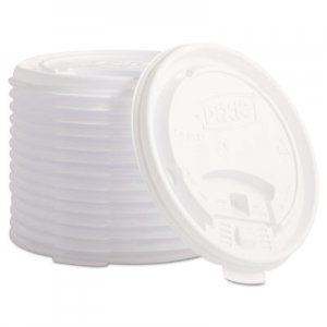 Dixie Plastic Lids for Hot Drink Cups, 12 & 16oz, White, 1000/Carton DXETB9542 TB9542