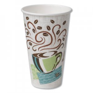 Dixie Hot Cups, Paper, 16oz, Coffee Dreams Design, 500/Carton DXE5356DX 5356DX