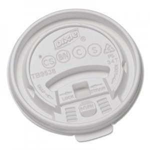 Dixie Plastic Lids for Hot Drink Cups, 8oz, White, 1000/Carton DXETB9538X TB9538X