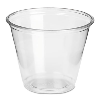 Dixie Clear Plastic PETE Cups, Cold, 9oz, Regular Size, 50/Pack, 20 Packs/Carton DXECP9A CP9A