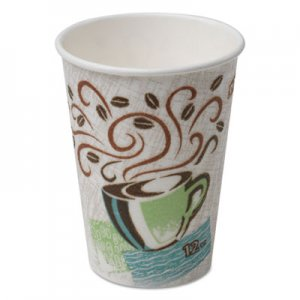 Dixie Hot Cups, Paper, 12oz, Coffee Dreams Design, 500/Carton DXE5342DX 5342DX